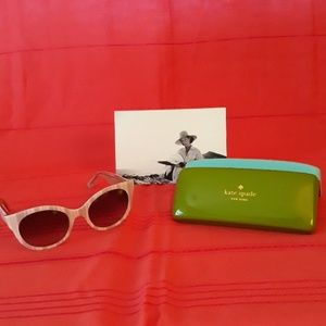 kate spade Accessories - Kate Spade Melly sunglasses brown/cream stripe NWT